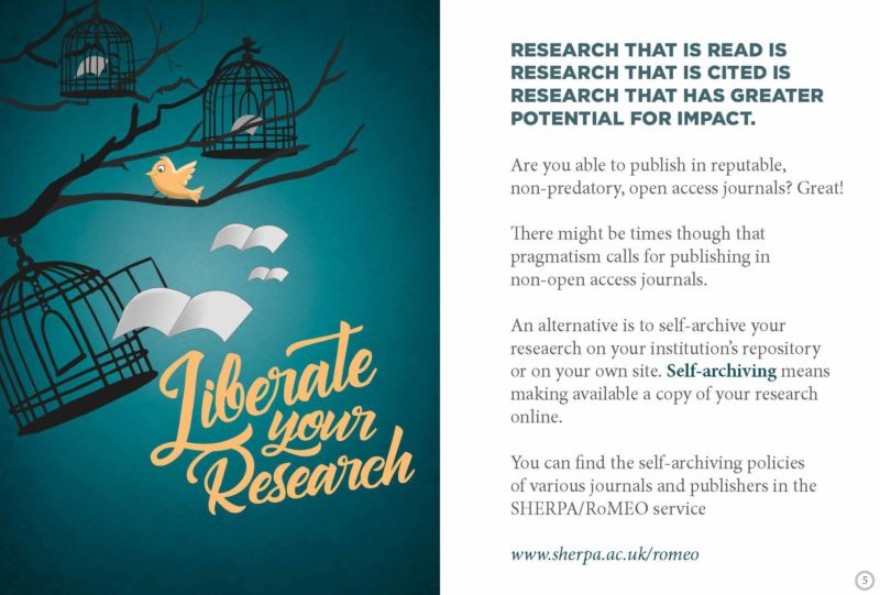 Liberate your research